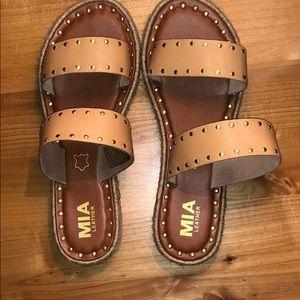 Leather Stud Sandals